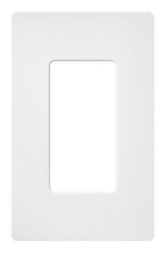 Lutron SC-1-SW Claro Single-Gang Wallplate, Snow (Satin Finish)