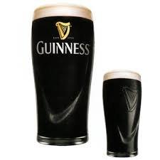 Guinness Gravity 20Oz  Embossed Beer Glasses Pair 14K Gold Harp Logo  2 Pack