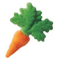 "24pk Carrot 2"" Edible Sugar Decoration Toppers for Cakes Cupcakes Cake Pops w. Edible Sparkle Flakes & Decorating Stickers"
