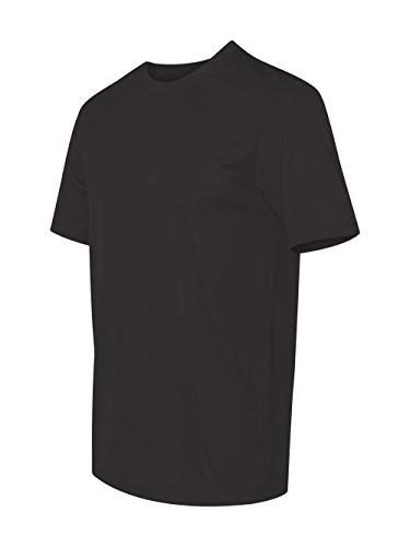 Hanes for Men's wicks moisture Cool Dri T-Shirt - BLACK - X-Large