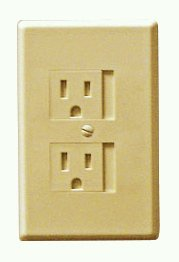 6-Pack Self-Closing Babyproof Outlet Covers - An Alternative To Wall Socket Plugs for Child Proofing (Standard (1 Screw), Beige)
