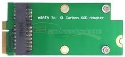 Sintech mSATA adapter card as Sandisk SD5SG2 SSD from Lenovo X1 Carbon Ultrabook