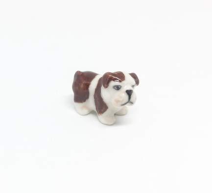 Studio one Handmade Animal Figurine ฺBulldog Puppy Mini Dog Porcelain Ceramic Pet Animal Figurine ()