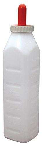 E-Z Nurse Feeding Supplies 3 quart Screw-On Calf Nursing Set of Bottle with Nipple & Cap, Small