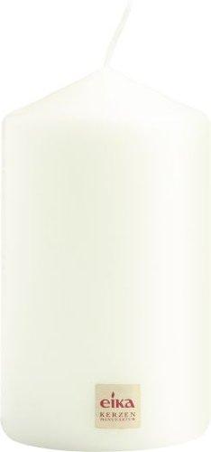 Eika 12514821 Stumpenkerze, 14 x 8 cm, weiß