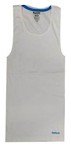 - Reebok Men's Ribbed Tank A Shirt (White, X-Large)