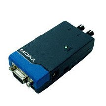 (MOXA TCF-90-M-ST Serial Port Powered RS-232 to Multi-Mode ST Fiber Optic Converter, up to 5Km, NOT UL Approved.)