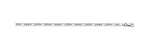 14kt White Gold Figaro Chain Necklace 2.36mm ()