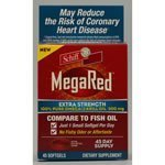 Schiff Schiff MegaRed Extra Strength 100% Pure Omega-3 Krill Oil, 500mg, Softgels 45 ct (Quantity of 1) by SCHIFF