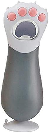 sevenjuly La Cerveza del sacacorchos de la Pata del Gato Botella Linda sacacorchos portátil para la Botella de Cristal de Cerveza Vino Gris, Accesorios de Cocina