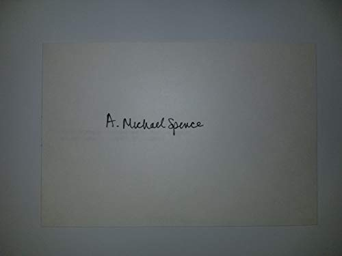 """Nobel Prize in Economic Science"" Michael Spence Hand Signed Card Mueller COA from Unknown"