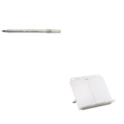 - KITBICGSM11BKFEL21100 - Value Kit - Fellowes BookLift Adjustable Desktop Copyholder (FEL21100) and BIC Round Stic Ballpoint Stick Pen (BICGSM11BK)