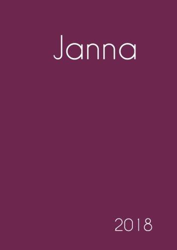 Download 2018: Namenskalender 2018 - Janna - DIN A5 - eine Woche pro Doppelseite (German Edition) ebook