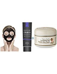 [EPONA] Korean Cosmetics Blackhead Remover Peel Off Natural Charcoal Mask for Acne (100ml) Bundle with [ Elizavecca] Milky Piggy Carbonated Bubble Clay Mask