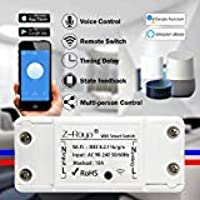 Wifi Switch,Z-Roya Smart WiFi Wireless Switch Remote Control for Home Appliances and Lamps DIY Smart Home Compatible…
