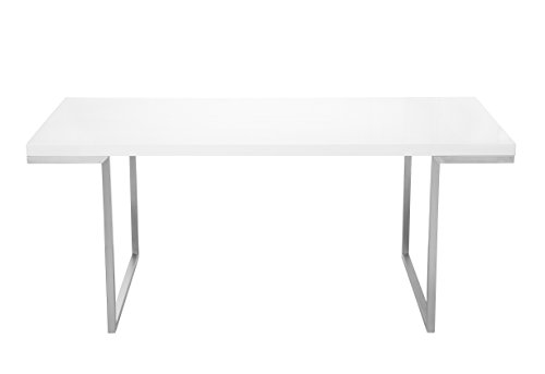 Moe's Home Collection 70 by 35-Inch Repetir White Lacquer Dining Table Review