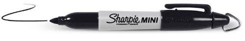 Sharpie Mini Permanent Marker Black Keychain, Black