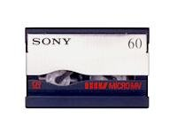 Sony MGR 60 Micro MV tape - 1 x 60min (89159T) Category: ...