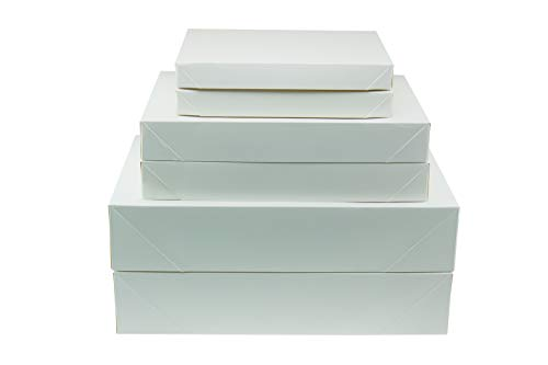 Clever Creations – White Gift Boxes with Lid – Use for Christmas, Birthday, Holiday Presents – Perfect for Shirts, Robes, Sweaters – 6 Pack – 3 Size Variety Pack