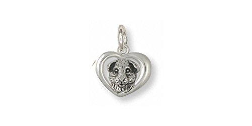 Guinea Pig Jewelry Sterling Silver Guinea Pig Charm Handmade Piggie Jewelry GP4-C