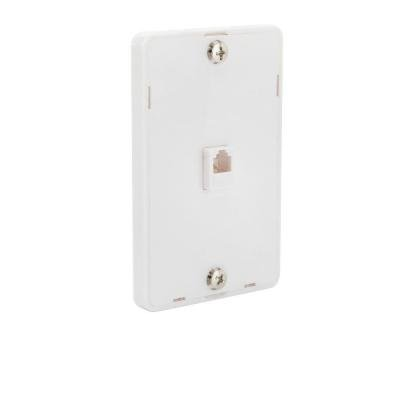Wall Mount Phone Jacks (CE TECH 1-Line Phone Wall Mount - White)