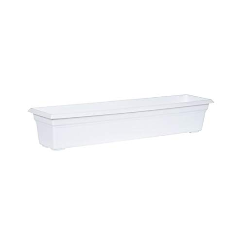 Plastic Window Box - Countryside Flower Box Planter, White, 36-Inch