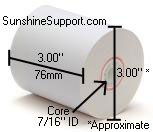 50 Rolls of 2 Part Paper Receipt Tape for Many Verifone Receipt Printers