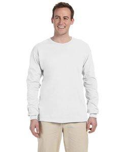 - Jerzees Mens 5 Oz. HiDENSI-T Long-Sleeve T-Shirt(363L)-White-S