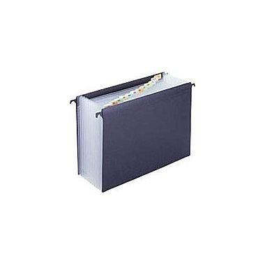 12 Pocket Hanging (Staples Poly Expanding Hanging File Jacket - Letter Size - Black - 13 Expandable Pockets/File (1)