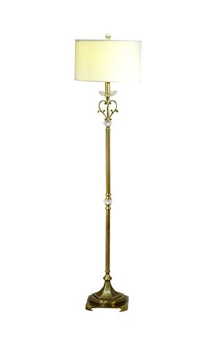 Brass Lamp Antique Torchiere (Springdale by Dale Tiffany SPF17171 Asbee White Floor Lamp)