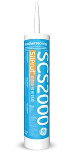 GE SilPruf SCS2000 Series Silicone Sealant Cartridges- 12 Pack (Aluminum Gray)