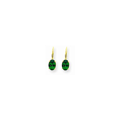 (14k 7x5mm Oval Mount St. Helens Leverback Earrings - Base Only, No Stones )