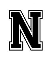 Amazon Com Letter N Varsity Lettering Vinyl Decal Black 5 Automotive