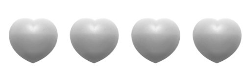 (Zak Designs Jacks Cœur 1313-530 Trivets Adjustable Heart-Shaped Box of 4 White)