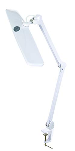Alvin LED1-W Canberra Professional LED Light in White, Eighty-four SMD LEDs, Spring Loaded Arms and a Swivel Head, Soft…