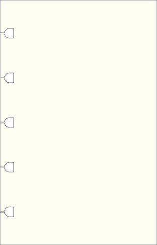 Filofax Pocket Plain Notes For Refillable Notebook - White