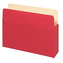 UPC 735854958312, Office Depot Color File Pockets, 3 1/2in. Expansion, 8 1/2in. x 12in., Letter Size, Red, OD1524E RED
