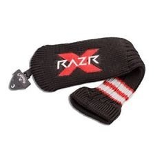 Callaway Razr X/HL Hybrid Golf Headcover Black and Red with Adjustable Tag (3 Hybrid, Razr X (Black))