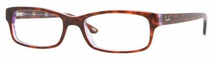 Ray-Ban Unisex 0RX5187 52mm Havana/Violet One - Rb 5187