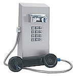 CEECO Vandal Resistant, Mini Stainless Steel Wall Telephone w/ Chrome Tone Keypad / SSW-321-F /