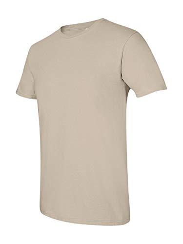 Gildan Men's Softstyle Ringspun T-shirt - Medium - Sand