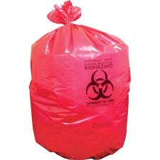 Heritage Bag Company Biohazard Can Liners, 1.3mil, 40''x46'', 200BG/BX, Red by Heritage Bag Company