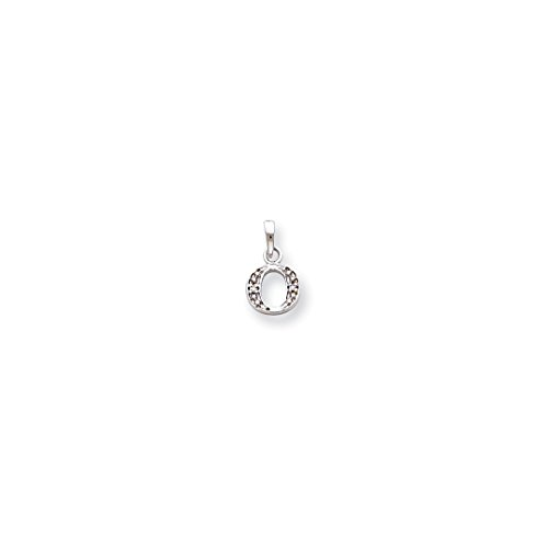 ICE CARATS 14kt White Gold .01ct Diamond Initial Monogram Name Letter O Pendant Charm Necklace Fine Jewelry Ideal Gifts For Women Gift Set From Heart 14kt Gold Diamond Name Pendant