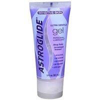 Astroglide Ultra Gentle Gel Sensitive Skin Personal Lubricant 3 oz ( Pack of 2)