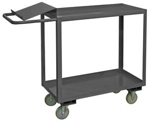 Durham Mfg., Two Shelf Stock Picking Cart, Oc-3060-2, Unit Size-Inches: 30 X 60 X 41, Unit Weight-Pounds: 158, Capacity-Pounds: 1200, Opc-3060-2-95 ()
