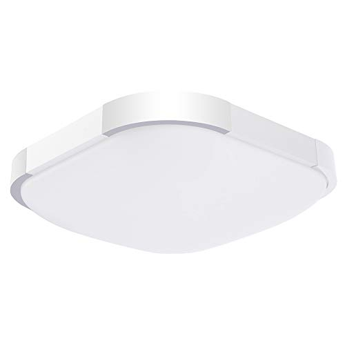 (Drosbey 24W LED Flush Mount Ceiling Light, 12in, 240W Incandescent Bulbs Equivalent, 3000 Lumens, 5000K Daylight White, Round Lighting Fixture for Kitchen, Hallway, Bathroom, Bedroom)