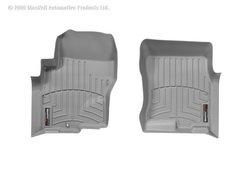 WeatherTech Custom Fit Front FloorLiner for Nissan Frontier Crew Cab, Grey