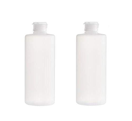 2PCS Empty Refillable Clear Plastic Soft Squeezable Bottle Flip Cap Bottles Cosmetic Container Jar Pot Vial Travel Packing Sorage For Facial Cleanser Shower Shampoo Conditioner Toiletries 400ml/13.6oz