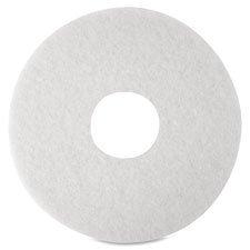 Floor Polishing Pads, 20'', 5/BX, White, Sold as 1 Box