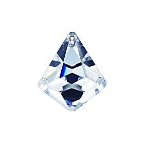 Faceted Cone - Swarovski crystal 30mm Clear Faceted Cone Ball Prism, Amazing Shine & Brilliance, Strass Logo engraved, Pendant Prism, Chandelier Accent, Party Decoration